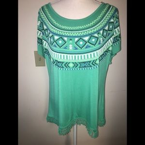 Cute New Directions Top with Indian Flare Sz L
